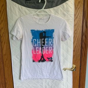 Free w/ purchase, White cheerleading t-shirt, szM